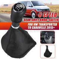 6 Speed Gear Shift Knob Boot Gaiter Cover For VW Transporter T6 Caravelle 2015+