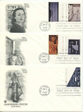 2000  FDC, LOUISE NEVELSON, 3 COVER LOT