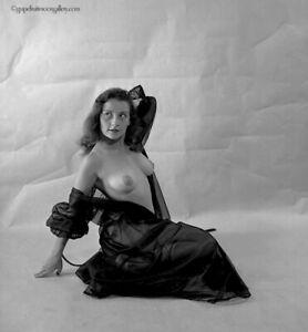 1950s Bunny Yeager Pinup Camera Negative Beautiful Model Petra Paris Revealing