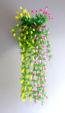 2 Colors Artificial Magnolia Bud Flower Vines Hanging  (Pink+ Yellow)