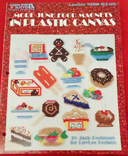 """""""More Junk Food Magnets in Plastic Canvas"""" Leaflet #1398 - Used"""