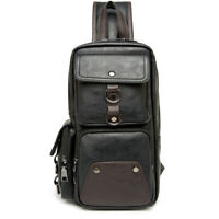 Chest New Shoulder Bag Waist Messenger Sling Crossbody Bags Fashion Mens Leather