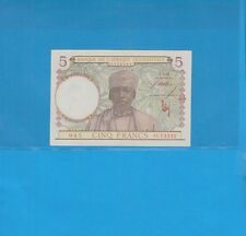 Banque de l'Afrique Occidentale 5 Francs du 2-3-43 O.13331 Billet N° 333263045