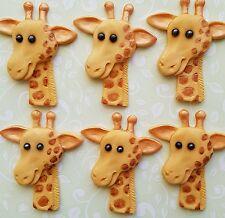 6 Jungle,Giraffe  edible cake/cupcake toppers ,Birthday,christening