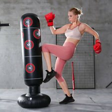 1.6M Adult Standing Boxing Punching Bag Inflatable Stand Kick Martial Training
