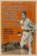 THE LIVES OF A BENGAL LANCER Movie POSTER 27x40 C Gary Cooper Franchot Tone