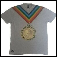 10 Deep Victory T-Shirt | Large | Gold Medal | Grey | Rare