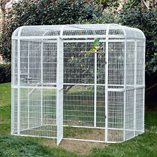 Large Bird Iron Parrot Cockatie Cage Heavy Duty Macare Walk In Aviary Pet House