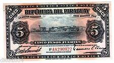 PARAGUAY Billet 5 PESOS FUERTES de 1923 P163 RARE BON ETAT