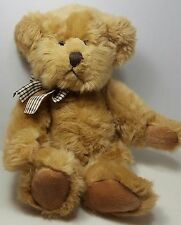 Russ teddy Bear tan Hathaway plush Toy Stuffed Animal plaid bow