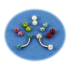 Pack piercing arcade titane G23 boule cristal 7 couleurs