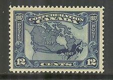 Canada #145, 1927 12c Map of Canada - 60th Anniversary of Confederation, Unused