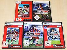 5 PC SPIELE SAMMLUNG PES PRO EVOLUTION SOCCER FUSSBALL 2008 - 2011 2012 - (2014)