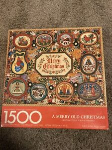 Springbok 1500 pc Puzzle A Merry Old Christmas COMPLETE