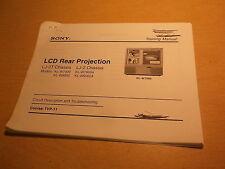 Sony LCD Rear Projection LJ-2T Chassis LJ-2 Model KL-W7000 Course TVP-11