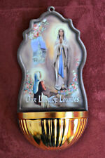Our Lady of Lourdes Holy Water Font NEW Catholic Faith Virgin Mary