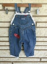 VTG Baby GUESS Denim Jean Overalls - 12 months - Lace, Buttons, Patches