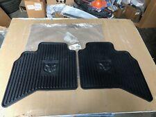 OEM 02 - 05 DODGE RAM QUAD CAB ALL SEASON SLATE RUBBER FLOOR MATS 82207053