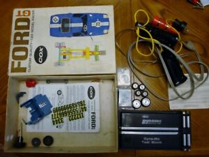 1/24 Slot Car Cox Ford GT Box and Bits Controllers Dynamic Text Block - Used