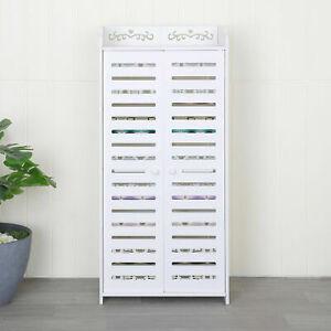Wooden White 5 Tier Shoe Rack Storage,Cabinet Shelf Display Stand Organiser Unit