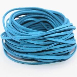Wholesale 10yd 3mm Suede Leather String Jewelry Making Thread Cords azure
