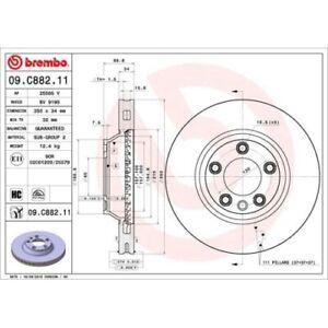 2 Bremsscheibe BREMBO 09.C882.11 COATED DISC LINE passend für AUDI PORSCHE VW