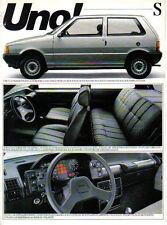 Fiat Uno S 1050 1300 Petrol Alcohol Late 1980s Brazilian Market Leaflet Brochure