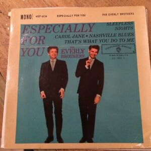 UK 1960 ROCK'N'ROLL EP - EVERLY BROS - ESPECIALLY FOR YOU EP - WARNER BROS