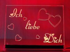"""LED Leuchtschild """"Ich liebe Dich"""" - Weihnachtsgeschenk"""