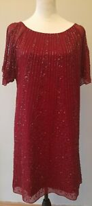Fearne Cotton Women's Red Sequinned Dress - Size 12