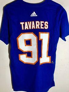 adidas  NHL T-Shirt New York Islanders John Tavares Blue sz S