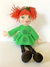 Irish Softies Plush Girl Celtic Dancer Green Dress Eyes Orange Hair EUC Dublin