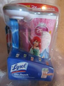 Lysol No-Touch Hand Soap Dispenser with Disney Princess Cover Brand New Sealed