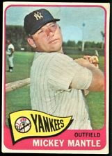 MICKEY MANTLE 1965 TOPPS NEW YORK YANKEES #350