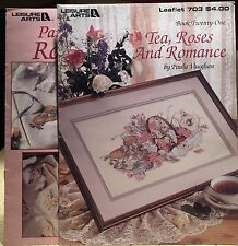 2 PAULA VAUGHAN Leisure Arts Cross Stitch Charts Leaflets Rose Garden 2025 703