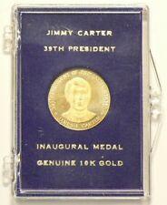 US Jimmy Carter 39th President Inaugural Medal 10 K Gold #7007