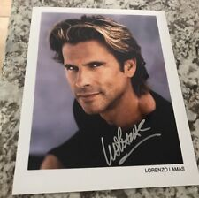 Lorenzo Lamas 8x10 Autograph SIGNED  PHOTO GA COA