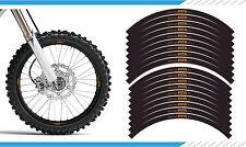 """EXCEL ORANGE - Motocross / Enduro / Supermoto Wheel Rim Decals 21"""" 19"""" 17"""""""