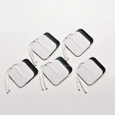"5 pair of TENS EMS Stim Electrodes 2"" x 2"" Square Pads ""Pig Tail"" 2mm plug NEW!"