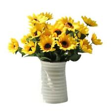 Fake Silk Artificial 14 Heads Sunflower Flower Bouquet Floral Garden Home Decor