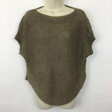 Vince dolman sweater Womens XS short sleeved brown linen knit X-Small