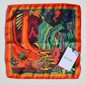 PAUL SMITH Dreamer Print 100% SILK handkerchiefs pocket square
