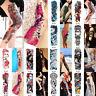 Large Full Arm Temporary Tattoo Sticker Beauty Decal Body Art Flowers Unisex SE