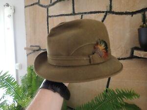 Vintage Stetson Hat St Mority  green Fedora Hat 1/8