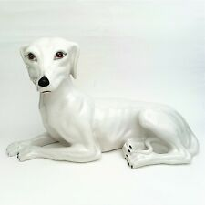 Vintage Italian Porcelain Whippet/Greyhound Dog Figurine