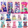 Kids Girl Cartoon Summer Dress Princess Party Casual Pajama Nightdress Sleepwear
