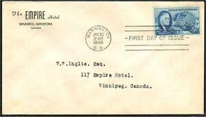 USA Roosevelt 1946 FDC Empire Hotel envelope (388)