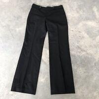 Banana Republic Jackson Fit Black Wool Stretch Wide Leg Women's Suit Pants (X) 6