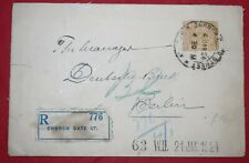 Mayfairstamps India 1924 Church Gate St to Berling Germany Registered Cover wwf5