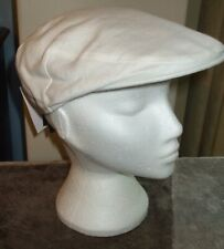 "Men's Failsworth 100% Irish Linen Flat Cap White Size 7"" (57cm)"
